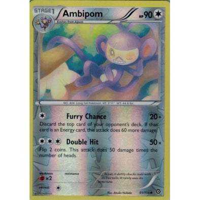 Ambipom - 91/114 - Reverse Foil - 401 Games