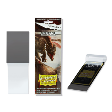 Dragon Shield - 100ct Standard Size - Perfect Fit Sealable - Smoke available at 401 Games Canada