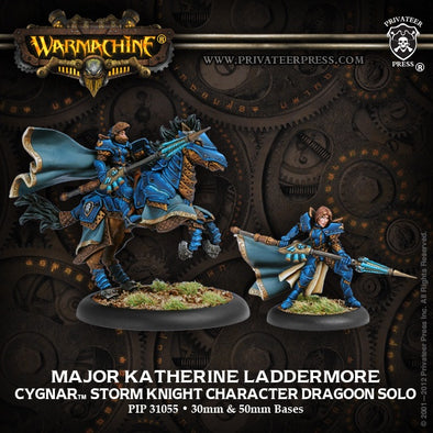 Buy Warmachine - Cygnar - Major Katherine Laddermore and more Great Tabletop Wargames Products at 401 Games