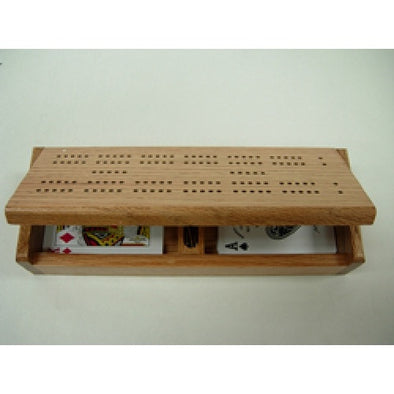 Cribbage - Board case with 2 decks of 100% plastic playing cards available at 401 Games Canada