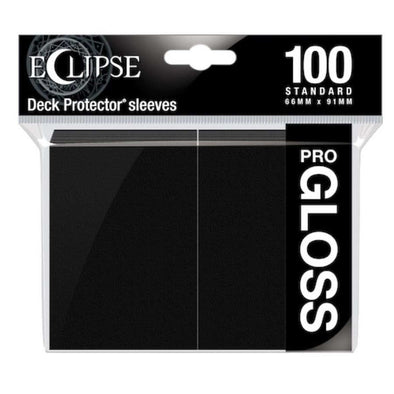 Ultra Pro - Gloss Eclipse - Standard Size - Jet Black 100ct available at 401 Games Canada