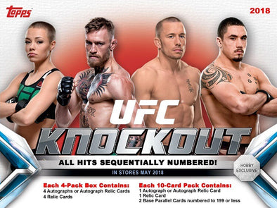 2019 Topps UFC Knockout Hobby Box - 401 Games