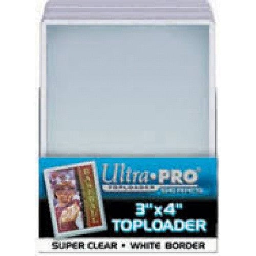 Buy Ultra Pro - Toploader 25ct - White Border and more Great Sleeves & Supplies Products at 401 Games