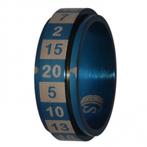 R20 Dice Ring - Size 16 - Blue - 401 Games