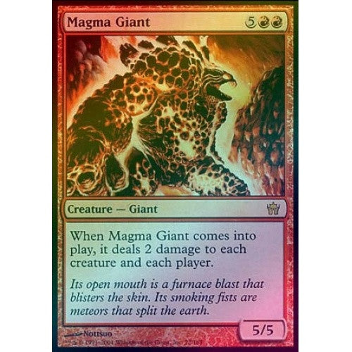 Magma Giant (Foil) (5DN) available at 401 Games Canada