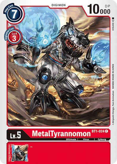 MetalTyrannomon (BT1-024) available at 401 Games Canada