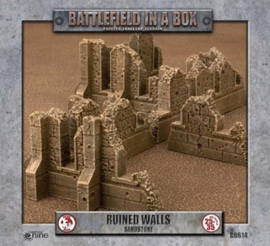 Battlefield in a Box - Sandstone - Ruined Walls available at 401 Games Canada