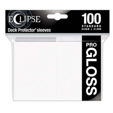 Ultra Pro - Gloss Eclipse - Standard Size - Arctic White 100ct available at 401 Games Canada
