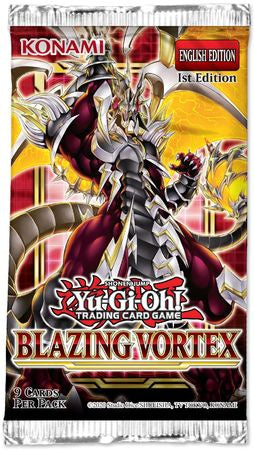Yugioh - Blazing Vortex Booster Pack - 1st Edition available at 401 Games Canada