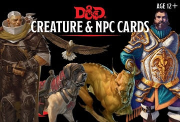 Dungeons and Dragons 5th Edition - Creature and NPC Cards - 401 Games