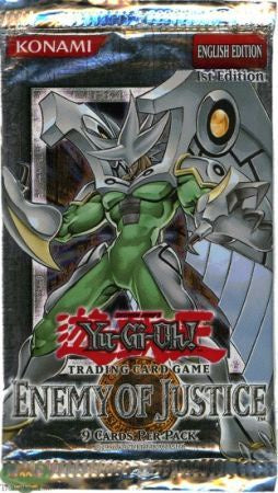 Yugioh - Enemy of Justice Booster Pack (1st Edition) available at 401 Games Canada