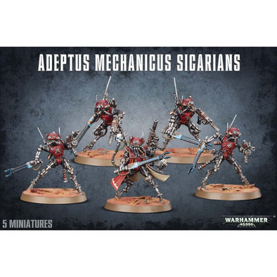 Buy Warhammer 40,000 - Adeptus Mechanicus - Adeptus Mechanicus Sicarians and more Great Games Workshop Products at 401 Games