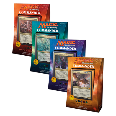 Buy MTG - Commander 2017 - Set of Four and more Great Magic: The Gathering Products at 401 Games