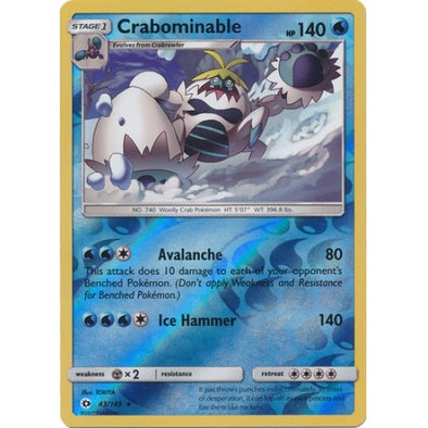 Buy Crabominable - 43/149 - Reverse Foil and more Great Pokemon Products at 401 Games