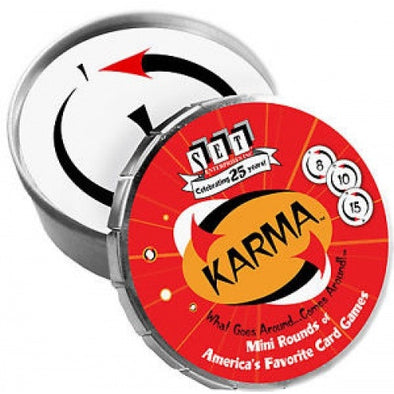 Buy Karma Mini Round Tin and more Great Board Games Products at 401 Games