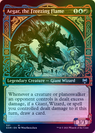 Aegar, the Freezing Flame - Showcase (FOIL) (KHM) available at 401 Games Canada