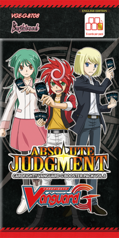 Cardfight!! Vanguard - VGE-G-BT08 - Absolute Judgment Booster Pack available at 401 Games Canada
