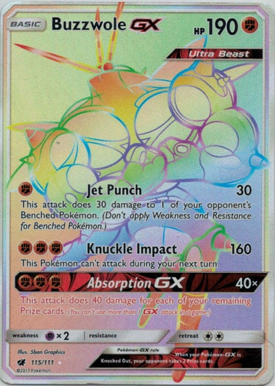 Buy Buzzwole-GX - 115/111 - Hyper Rare and more Great Pokemon Products at 401 Games