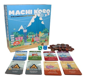 Buy Machi Koro - 5th Anniversary Edition and more Great Board Games Products at 401 Games