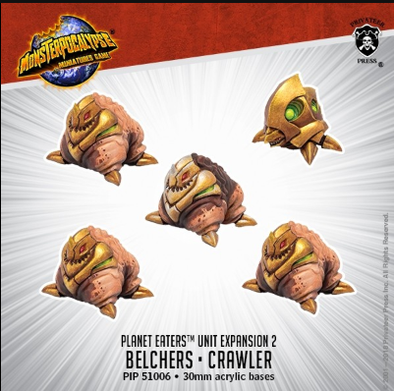 Buy Monsterpocalypse Miniatures Game - Planet Eaters - Belchers/Crawler and more Great Miniature Wargames Products at 401 Games
