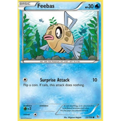 Buy Feebas - 22/106 - Reverse Foil and more Great Pokemon Products at 401 Games