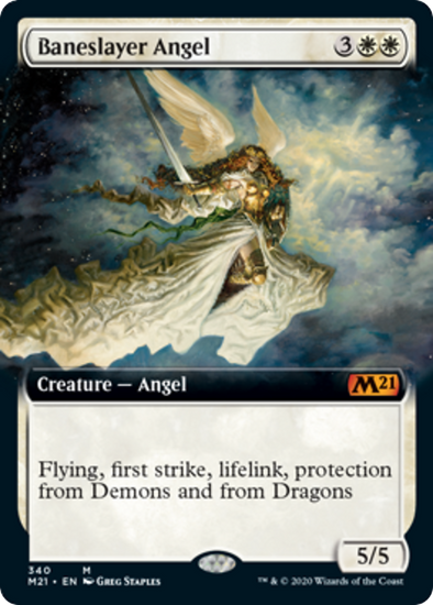 Baneslayer Angel (Extended Art) (M21) (Pre-Order: 2020-07-03) - 401 Games