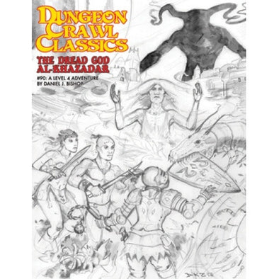 Dungeon Crawl Classics: The Dread God Al-Khazadar - Sketch Cover - 401 Games