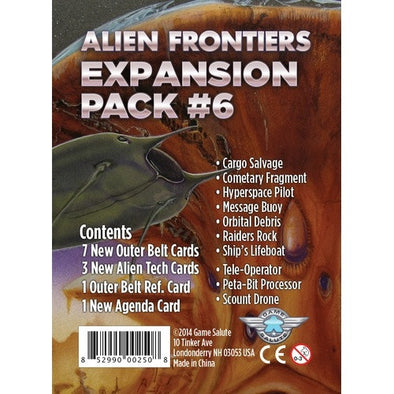 Buy Alien Frontiers - Expansion Pack 6 and more Great Board Games Products at 401 Games