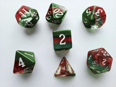 Little Dragon - Birthstone Dice - Bloodstone (March)