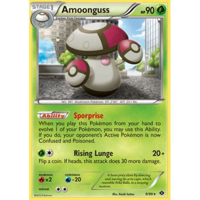 Buy Amoonguss - 9/99 - Reverse Foil and more Great Pokemon Products at 401 Games