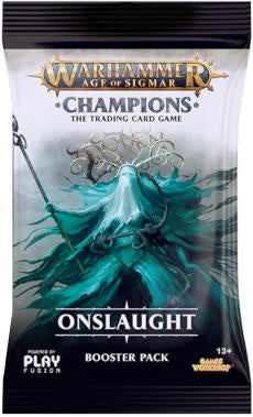 Buy Warhammer - Age of Sigmar - Champions - Onslaught Booster Pack and more Great Board Games Products at 401 Games