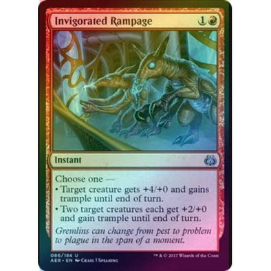 Invigorated Rampage (Foil) (AER) available at 401 Games Canada