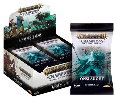 Buy Warhammer - Age of Sigmar - Champions - Onslaught Booster Box and more Great Board Games Products at 401 Games