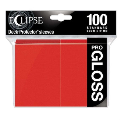 Ultra Pro - Gloss Eclipse - Standard Size - Apple Red 100ct available at 401 Games Canada