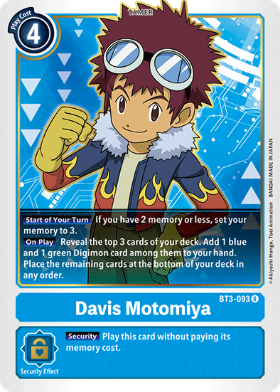 Davis Motomiya (BT3-093) available at 401 Games Canada
