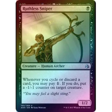 Ruthless Sniper (Foil) (AKH) available at 401 Games Canada