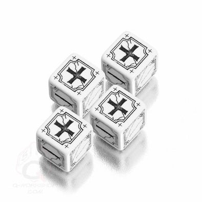 Dice Set - Q-Workshop - Fate Dice - White - 401 Games