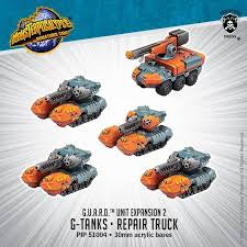 Buy Monsterpocalypse Miniatures Game - G.U.A.R.D. - G-Tanks/Repair Truck and more Great Tabletop Wargames Products at 401 Games