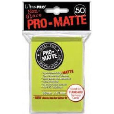 Buy Ultra Pro - Standard Card Sleeves 50ct - Pro-Matte - Bright Yellow and more Great Sleeves & Supplies Products at 401 Games