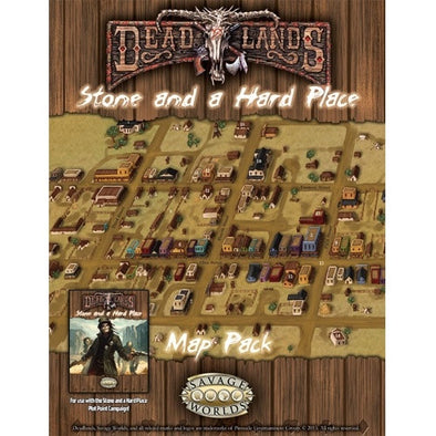 Savage Worlds - Deadlands - Stone and a Hard Place - Map - 401 Games