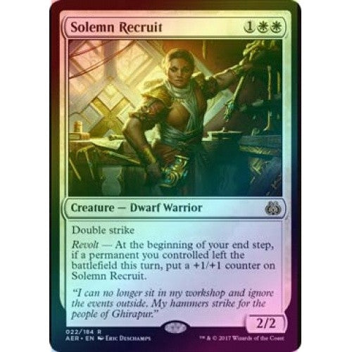 Solemn Recruit (Foil) (AER) available at 401 Games Canada