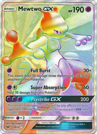 Buy Mewtwo-GX - 76/73 - Hyper Rare and more Great Pokemon Products at 401 Games