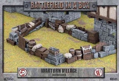 Battlefield in a Box - Wartorn Village - Barricades