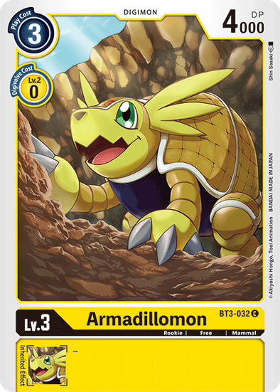 Armadillomon (BT3-032) available at 401 Games Canada