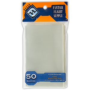 Fantasy Flight Supply - 50ct Tarot Size 70mm x 120mm Sleeves