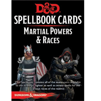 Dungeons and Dragons 5th Edition - Spellbook Cards - 2nd Edition - Martial Power and Races - 401 Games