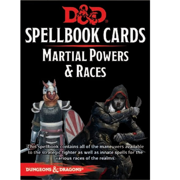 Dungeons and Dragons 5th Edition - Spellbook Cards - 2nd Edition - Martial Powers and Races - 401 Games