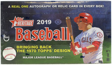Buy 2019 Topps Heritage Baseball Hobby Box and more Great Sports Cards Products at 401 Games