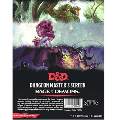 Buy Dungeons and Dragons 5th Edition - Rage of Demons Dungeon Master's Screen and more Great RPG Products at 401 Games