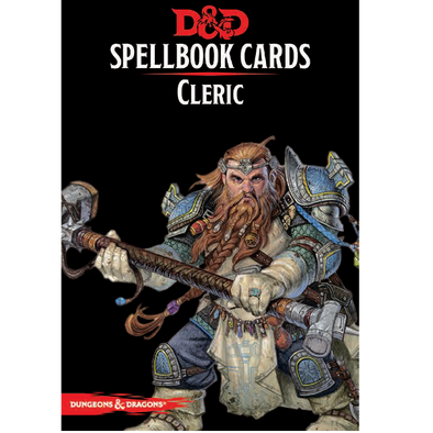 Dungeons and Dragons 5th Edition - Spellbook Cards - 2nd Edition - Cleric - 401 Games